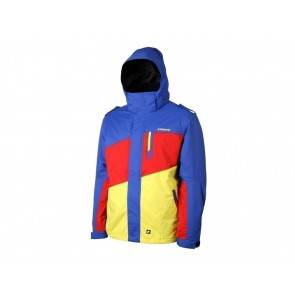 GIACCA SNOWBOARD UOMO PROTEST  672312 147  HANDPLANT BLUE/YELLOW/RED