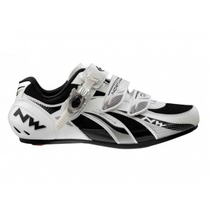 SCARPE CICLISMO STRADA UOMO NORTHWAVE  81021003 FIGHTER SBS WHITE/SILVER