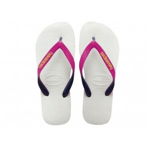 CIABATTE INFRADITO BAMBINA JUNIOR HAVAIANAS  4115549 0826  TOP MIX WHITE/PINK
