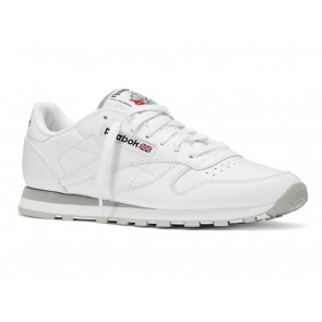 SCARPE UOMO REEBOK  2214 CLASSIC LEATHER WHITE/LIGHT GREY
