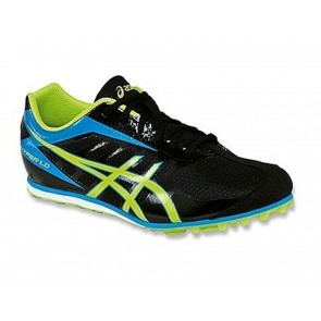 SCARPE ATLETICA CHIODATE UOMO ASICS  G404Y 9005  HYPER LD 5 BLACK/LIME/BLUE