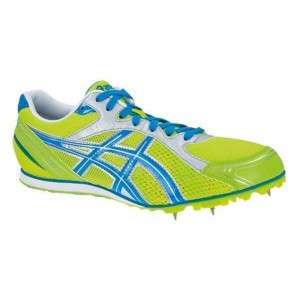 SCARPE ATLETICA CHIODATE UOMO ASICS  G209N 0747  HYPER LD ES NEON YELLOW/BLUE