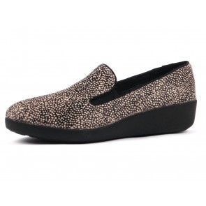 SCARPE SLIP ON DONNA FITFLOP INVERNO 661 231  F-POP SKATE BLACK MIX