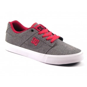 SCARPE UOMO DC ESTATE ADYS300014 GRF BRIDGE TX SE GREY/RED