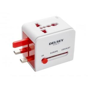 CON CONNESSIONE USB  DELSEY  00394051157  ADATTATORE UNIVERSALE BIANCO