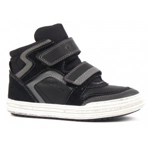 SCARPE BAMBINO JUNIOR GEOX INVERNO J64A4H 05422 C0017  ELVIS BLACK/GREY
