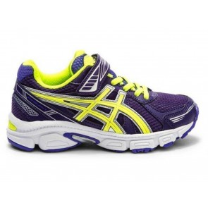 SCARPE JUNIOR ASICS  C412N 3604 PRE GALAXY 7 PS DEEP PURPLE/FLASH YELLOW/BLUE