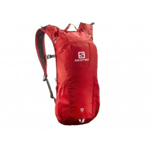 ZAINO  SALOMON  379975  TRAIL 10 BRIGHT RED/WHITE