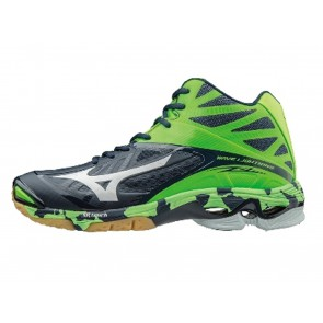 SCARPE VOLLEY UOMO MIZUNO  V1GA1605  WAVE LIGHTNING Z 2 MID DRESS BLUES/WHITE/GREEN GECKO