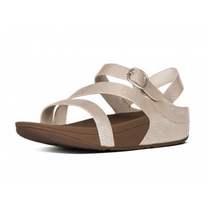 SANDALI DONNA FITFLOP ESTATE E51 423  THE SKINNY Z-CROSS SANDALS SILVER SNAKE