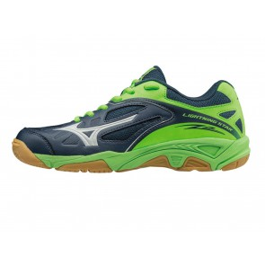SCARPE PALLAVOLO VOLLEY JUNIOR MIZUNO  V1GD1603  LIGHTNING STAR Z2 JR DRESS BLUE/WHITE/GREEN