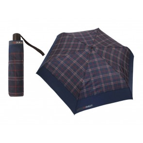 OMBRELLO MINI AUTOMATICO UOMO H.DUE.O  HF05/NB  NIGHT BLUE E TARTAN BLUE