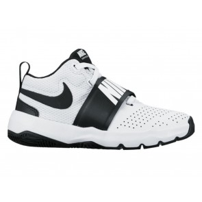 SCARPE BASKET JUNIOR NIKE  881942 100  TEAM HUSTLE D 8 J WHITE/BLACK