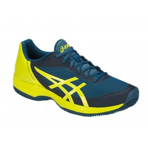 SCARPE TENNIS UOMO ASICS  E801N 4589  GEL COURT SPEED CLAY INK BLUE/SULPHUR SPRING/TURKIS