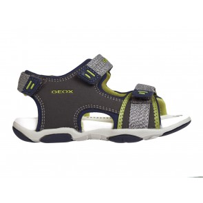 SANDALI BAMBINO JUNIOR GEOX ESTATE B821AD 05015 C0666  BABY AGASIM GREY/LIME