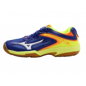 SCARPE VOLLEY JUNIOR MIZUNO  V1GD1703 71  LIGHTNING STAR Z3 JR SURFTHEWEB WHITE ORANGE