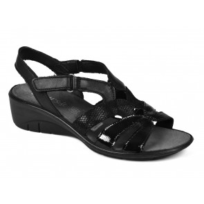 SANDALI DONNA ENVAL SOFT ESTATE 1277600  IN PELLE NERO