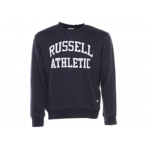 FELPA GIROCOLLO UOMO RUSSEL ATHLETIC  A8 700 190  PULL OVER HOODY BLU