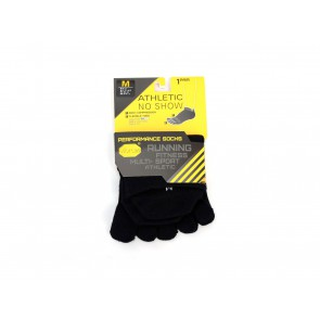 CALZE CON DITA UNISEX FIVEFINGERS  515NO2  ATHLETIC NO-SHOW BLACK