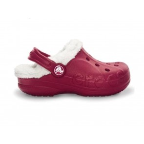 CIABATTE SANDALI JUNIOR CROCS INVERNO 11745 6B4  BAYA LINED KIDS POMEGRANATE/OATMEAL