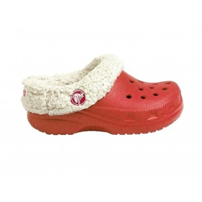 CIABATTE JUNIOR CROCS INVERNO 24226 M13  KIDS MAMMOTH RED/OATMEAL