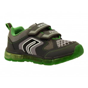 SCARPE BAMBINO JUNIOR GEOX INVERNO J8444A 0BU11 C0875  JR ANDROID BOY GREY/GREEN