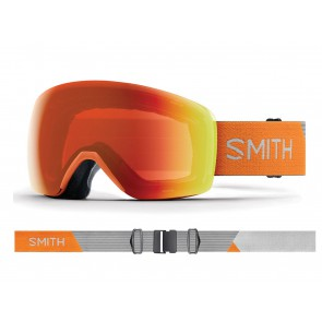 MASCHERA SCI SNOWBOARD + LENTE OMAGGIO DONNA SMITH  M00681 MP 2ZI  SKYLINE CHROMAPOP HALO RED