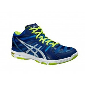 SCARPE PALLAVOLO UOMO ASICS  B403N 3993  GEL BEYOND 4 MT ELECTRIC BLUE/SILVER/LIME