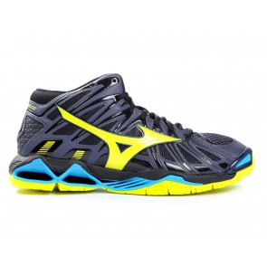 SCARPE PALLAVOLO VOLLEY UOMO MIZUNO  V1GA181747  WAVE TORNADO X2 MID OMBRE BLUE/SAFETY YELLOW