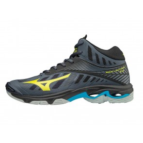 SCARPE PALLAVOLO VOLLEY UOMO MIZUNO  V1GA1805 47  WAVE LIGHTNING Z4 MID OMBRE BLUE/SAFETY YELLOW