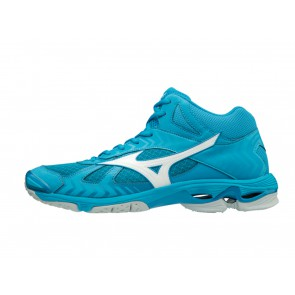 SCARPE PALLAVOLO VOLLEY UOMO MIZUNO  V1GA186598  WAVE BOLT 7 MID BLUE JEWEL/WHITE HAWAIAN