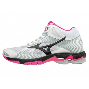 SCARPE VOLLEY PALLAVOLO DONNA MIZUNO  V1GC1865 64  WAVE BOLT MID WOS WHITE/BLACK/PINKGLO