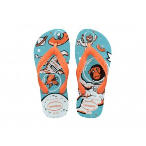 CIABATTE INFRADITO BAMBINO JUNIOR HAVAIANAS ESTATE 4000054 2609  KIDS RADICAL BLUE/ORANGE