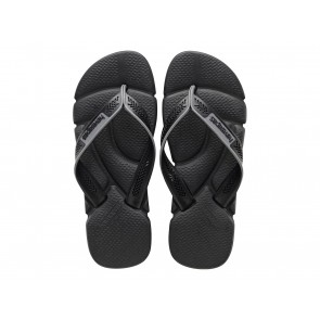 CIABATTE INFRADITO UOMO HAVAIANAS ESTATE 4123435 6328  POWER BLACK/STEEL GREY