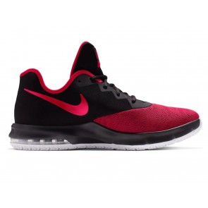 SCARPE BASKET UOMO NIKE  AJ5898 003  AIR MAX INFURIATE III LOW BLACK/UNIVERSITY RED