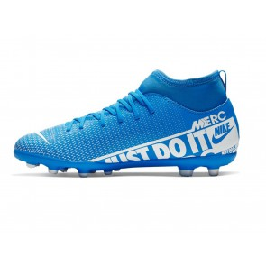 SCARPE CALCIO JUNIOR NIKE  AT8150 414  JR SUPERFLY 7 CLUB BLUE/WHITE