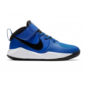 SCARPE BASKET JUNIOR NIKE  AQ4225 400  TEAM HUSTLE D 9 (GS) GAME ROYAL/BLACK/WHITE