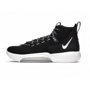 SCARPE BASKET UOMO NIKE  BQ5468 001  ZOOM RIZE TB BLACK/WHITE GREY