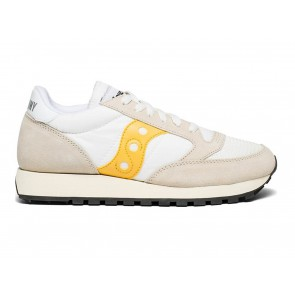SCARPE DONNA SAUCONY  S60368 40  JAZZ ORIGINAL VINTAGE WHITE/YELLOW