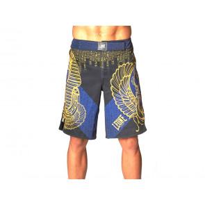 PANTALONI SHORT MMA UOMO LEONE  AB554 02  RAMSES BLU