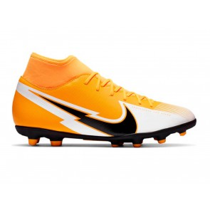 SCARPE CALCIO UOMO NIKE  AT7949 801  SUPERFLY 7 CLUB LASER ORANGE/ BLACK