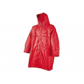 PONCHO IMPERMEABILE UNISEX CAMP  2000 1  CAGOULE FRONT ZIP RED