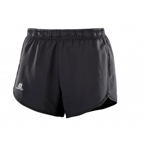 PANTALONI RUNNING DONNA SALOMON  401281  AGILE SHORT W BLACK